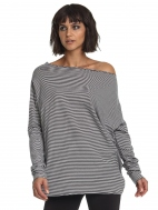 Planet Off The Shoulder Tee in Stripe