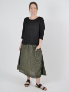 Pine Linen Skirt by Inizio