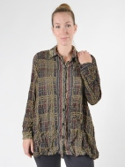 Plaid Lynn Oversized Shirt by Comfy USA