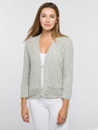Pointelle Hem Cardi by Kinross Cashmere