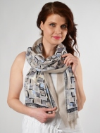 Pop Squares Scarf by Kinross Cashmere