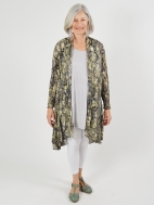 Print Mesh Cardigan by Comfy USA