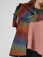 Rainbow Micropleat Scarf by Inizio
