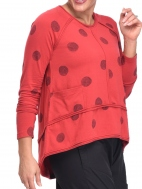 Red Presley Top, Black Thumb Print by Snapdragon & Twig