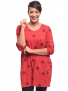 Red Thumbprint Sienna Tunic by Snapdragon & Twig