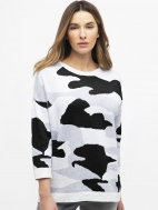 Reversible Camo Pullover by Kinross Cashmere
