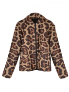 Reversible Leopard Print Bomber by Mycra Pac