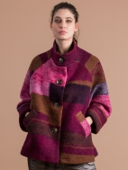 Rosy Boiled Wool Jacket by Alembika