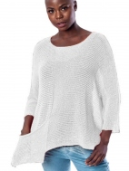 Scoop Neck Knit Pocket Sweater by Alembika