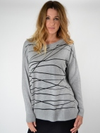 Scribble Long Sweater by Planet