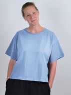 Short Sleeve Crop Crew Shirt by Pacificotton