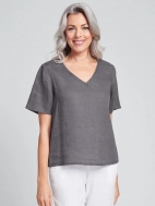 Short Sleeve Crop V by Flax
