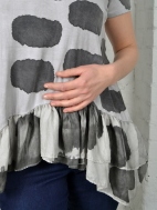 Short Sleeve Silk Ruffle Tunic by Annie Turbin
