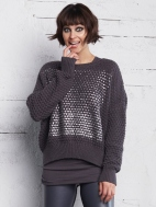 Silver Popcorn Sweater by Planet
