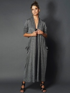 Silver Stripe Evening Duster by Alembika