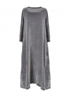 Silver Velvet Dress by Grizas