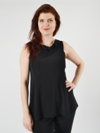 Sleeveless Matrix Cowl Top Solid by Sympli