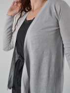 Solid Drape Cardigan by Kinross Cashmere