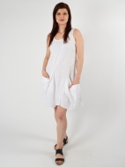 Solid Short Pocket Dress by Inizio