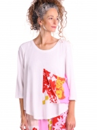 Solid Tee with Floral Pocket by Alembika