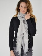 Spray Print Scarf by Kinross Cashmere