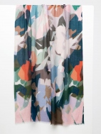 Stained Glass Floral Print Scarf by Kinross Cashmere