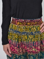 Stained Glass Pleated Sweater Skirt by Ivko