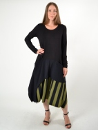 Stripe Bottom Dress by Alembika