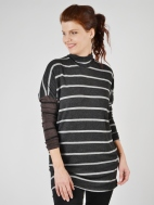 Stripe Turtleneck Tunic by Alembika