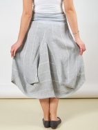 Striped Cloverleaf Midi Skirt by Inizio