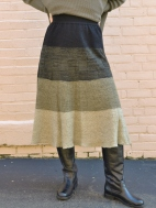 Striped Knit Skirt by Butapana