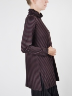 Striped Turtleneck Tunic by Comfy USA