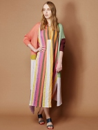 Sunset Stripe Maxi Shirtdress by Alembika