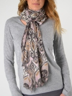 Tapestry Ikat Print Scarf by Kinross Cashmere