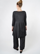 Terry Pin Stripe Tunic by Comfy USA