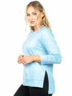 The Side Slit Long Sleeve Boxy Top by A'nue Miami