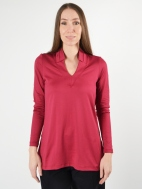 The Uncollared V-Neck Top by A'nue Miami