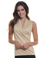 The Wrap Sleeveless Top by A'nue Miami