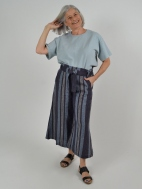 Tie Waist Stripe Crop Pant by Bryn Walker