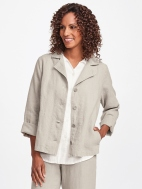 Travel Caper Linen Jacket by Flax