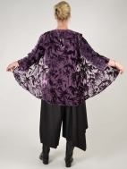 Tropical Violet Cut Velvet Jacket by Aris A.