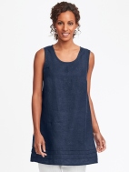 Tuck Linen Tunic Tank by Flax
