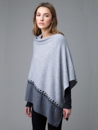 Twist Stitch Colorblock Poncho by Kinross Cashmere