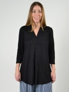 V-Neck Crinkled Tunic by Alembika