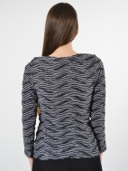 Wave-Stripe Top by Klok