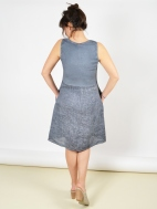Weathered Linen Patch Dress by Inizio