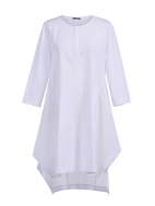 White Cotton Tunic by Alembika