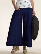Wide Leg Cross Over Pant by Luna Luz