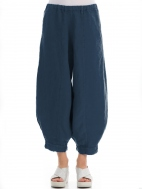 Wide Tapered Linen Trouser by Grizas