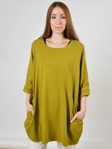 3/4 Sleeve Bubble Tunic by Pacificotton